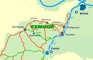 map of Exmoor